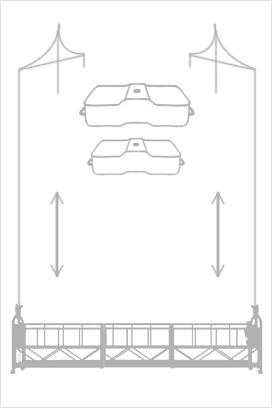 Схема монтажа строительной люльки